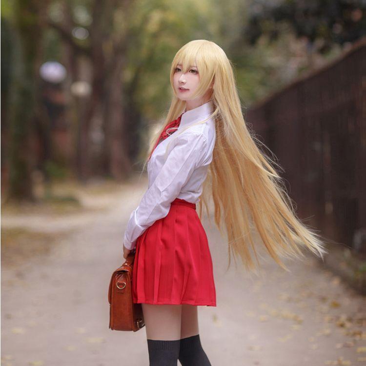 Горячий гимуто! Умару-Чан, косплей, костюм, Япония, школьная форма комплект для девочек, белая рубашка + юбка + галстук, любой размер, бесплатн...