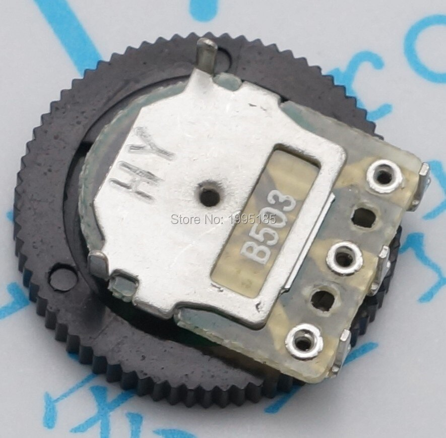 50pcs / bag gear potentiometer 50K 16 x 2MM single joint potentiometer dial 3pin