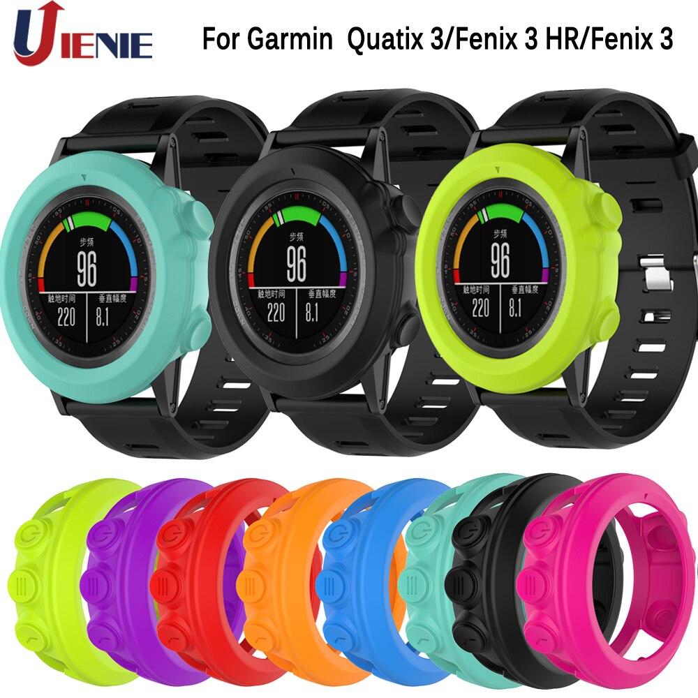 Силиконовый защитный чехол для Garmin Fenix 3/Fenix3 HR/Sapphire/Quatix 3/Tactix Bravo Смарт-часы с защитой от царапин