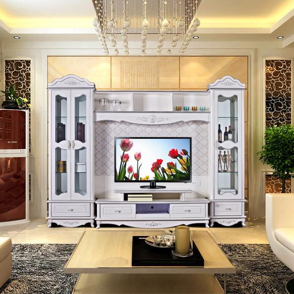 Moderne Hohe Wohnzimmer Holz möbel lcd TV Stand 0316