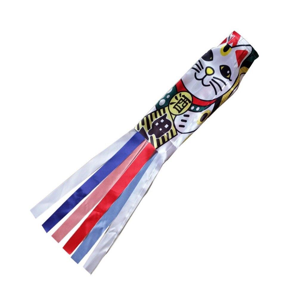 140cm japonais carpe Spray chaussette vent Streamer cerfs-volants poisson drapeau Koinobori cerf-volant dessin animé poisson coloré windchaussette carpe vent chaussette drapeau
