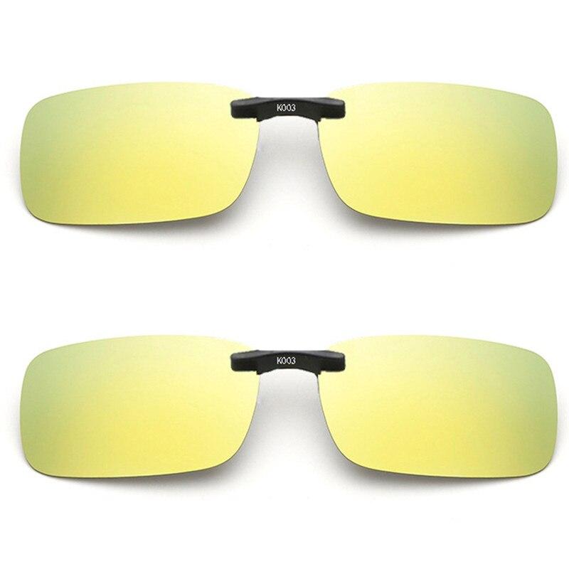 Imixlot, gafas de sol polarizadas clásicas Unisex con Clip, lentes de visión nocturna para conducción, Clip para gafas de sol antiuva