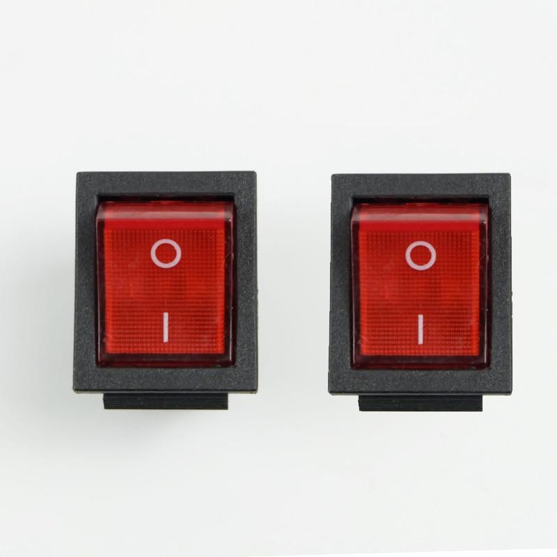 2pcs KCD4 201 Rocker Switch Power Switch On/Off 4/6 Pins Light 16A /250VAC 20A/ 125VAC