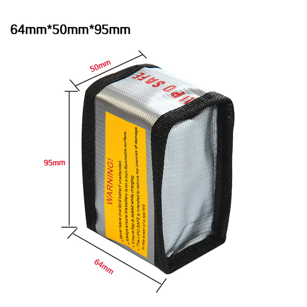 Hohe Qualität 64*50*95 MM LiPo Li-Po Akku Brandschutz Safety Guard Sichere Bag