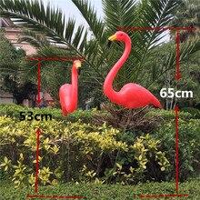 Boissons gratuites 1 paire en plastique   Décoration de jardin de flamand rose, ornement dart de pelouse, décoration de cérémonie de mariage