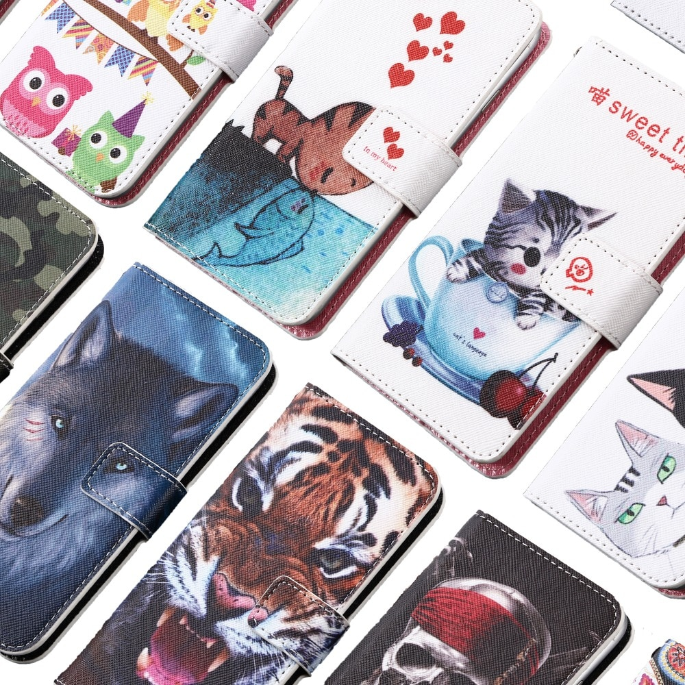 GUCOON Cartoon Wallet Case for Haier Elegance E11 E13 E7 E9 Fashion PU Leather Cover Case Phone Bag