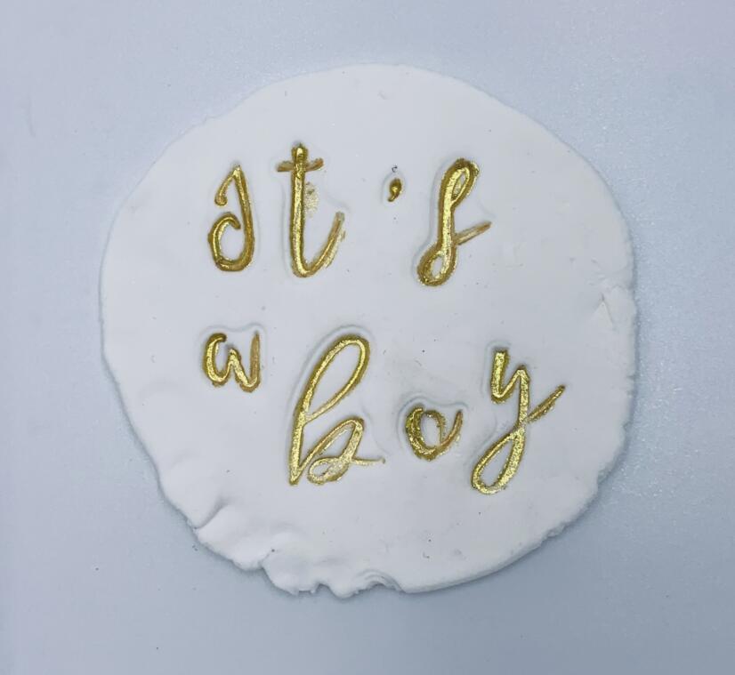 Ferramenta de bolo 1 polegada alfabeto cortador de biscoito embosser selo pegajoso decoração fondant cortador ferramentas sugarcraft