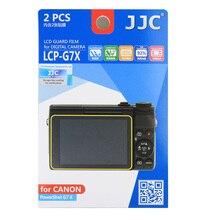 JJC LCP-G7X LCD Film protecteur décran (2 Kits) pour Canon Powershot G1X Mark III, 5X, G7X, G9X, G7X Mark II, EOS M100, EOS M6,