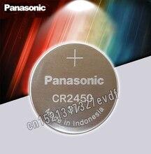 Batterie bouton dorigine Panasonic CR2450 CR 2450 3V Lithium pile bouton piles pour montres, horloges, prothèses auditives
