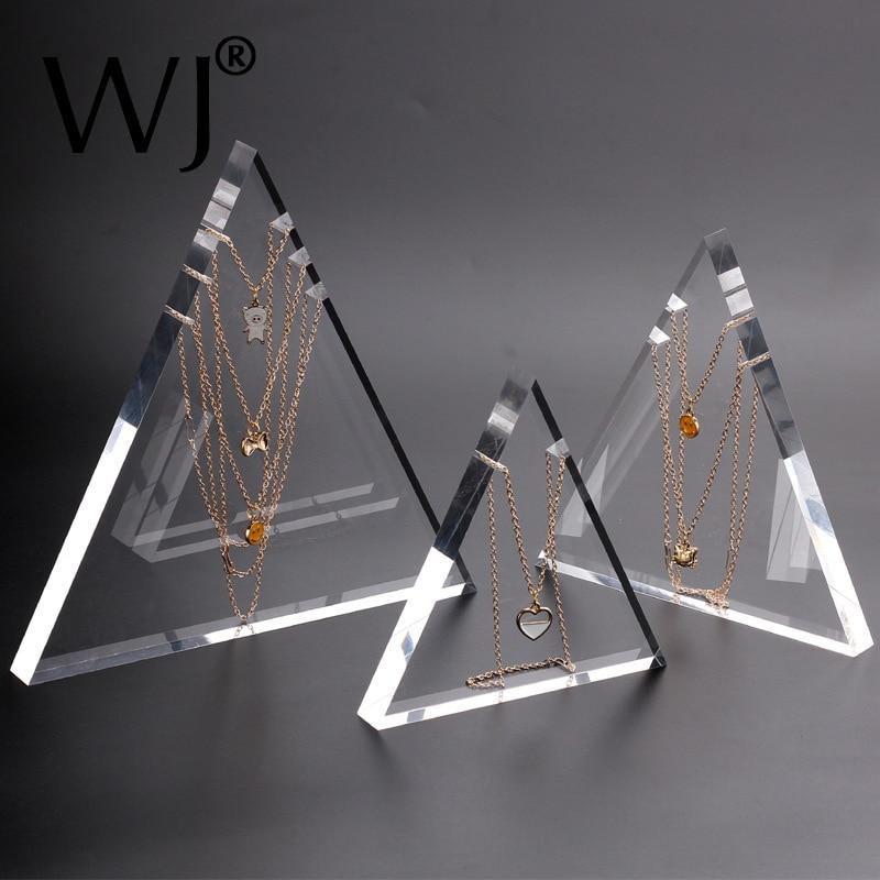 Подставка-держатель для ювелирных украшений из акрила, цепочка с подвеской, ожерелье, подставка-витрина, реквизит для фотографии, прозрачны...