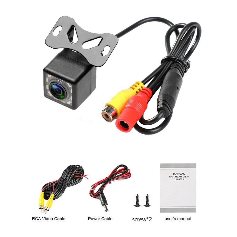 Câmera de Visão Traseira do carro Universal 12 LED Night Vision Backup Estacionamento Reverso Da Câmera À Prova D Água 170 Grande Angular HD de Imagem a Cores