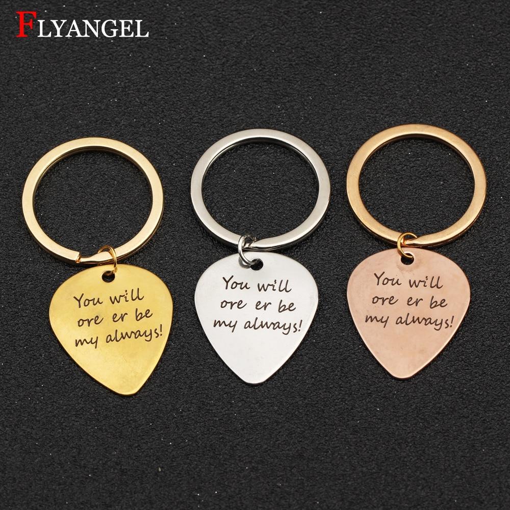 Llavero personalizado para amantes de púas de guitarra, será mi regalo ideal para parejas, novio, novia, joyería, llavero para hombre y mujer