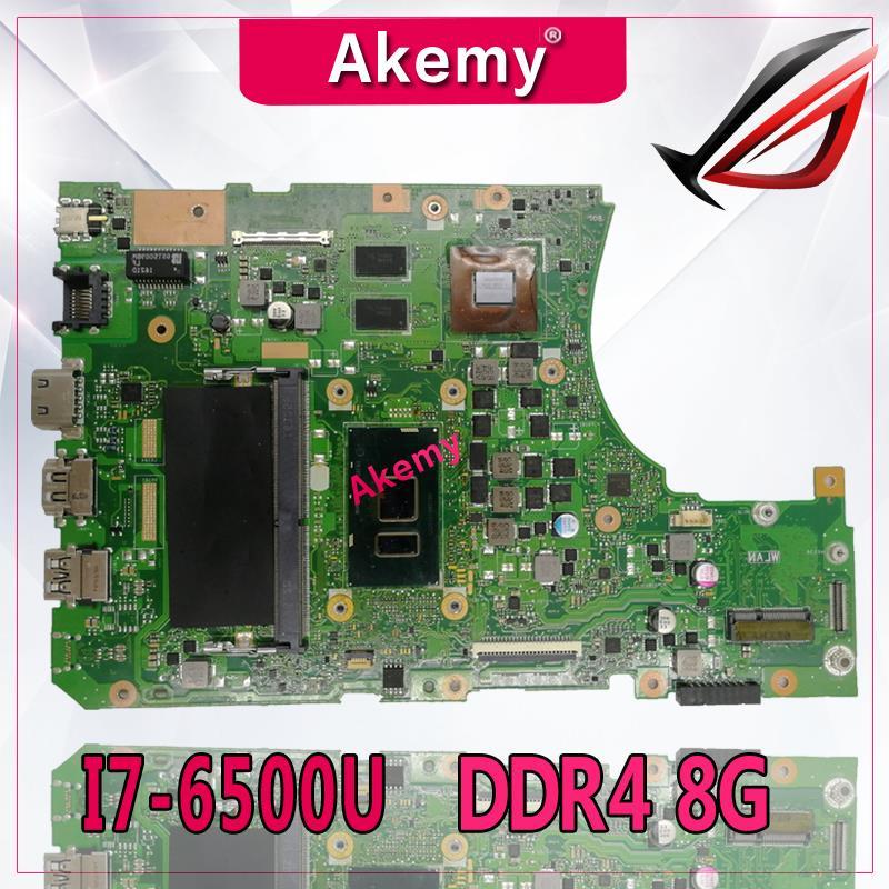 Akemy X556UV материнская плата для ноутбука DDR4 8g RAM I7-6500 для For Asus X556UQ X556UV X556UB X556UR X556U тестовая материнская плата X556UV материнская плата