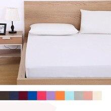 Housse de matelas drap housse solide   Drap de lit avec bande de caoutchouc élastique tout autour