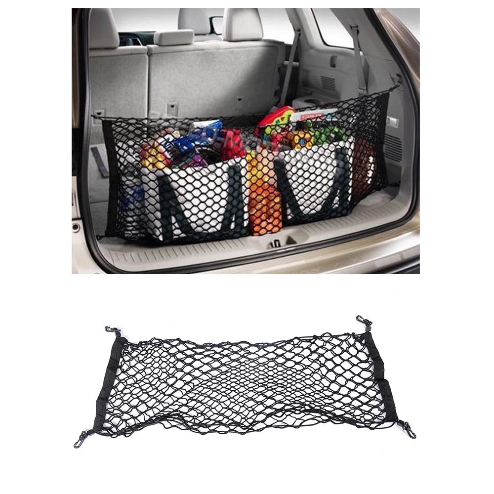 Universal Car Rear Trunk Boot Organizer Pocket Cargo Net Mesh Storage Car Receive Arrange Net 92.5cm