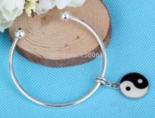 Cuff Bangles For Women Enamel Yin Yang Owl Bird Handbag Bangles Boho Girls Opening Charm Bracelets&Bangle Female Pulseras Mujer