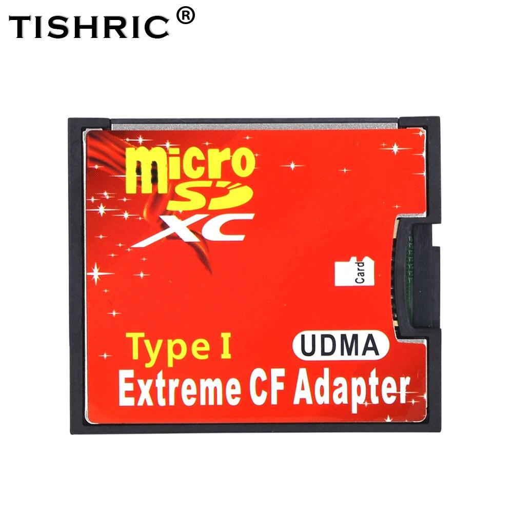TISHRIC Micro SD TF a CF adaptador de tarjeta MicroSD/HC a Flash compacto tipo lector de tarjeta de memoria Convertidor para cámara