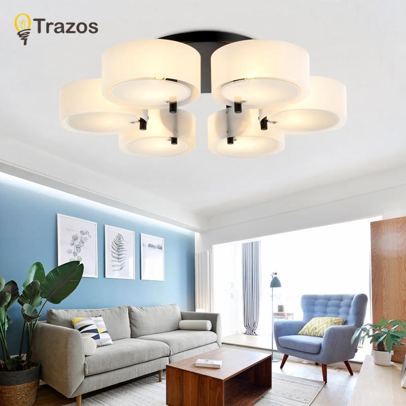 Trazos  Modern Led Ceiling Lights Black For Living Room Bedroom 95-265V Indoor lighting Ceiling Lamp Fixture luminaria teto