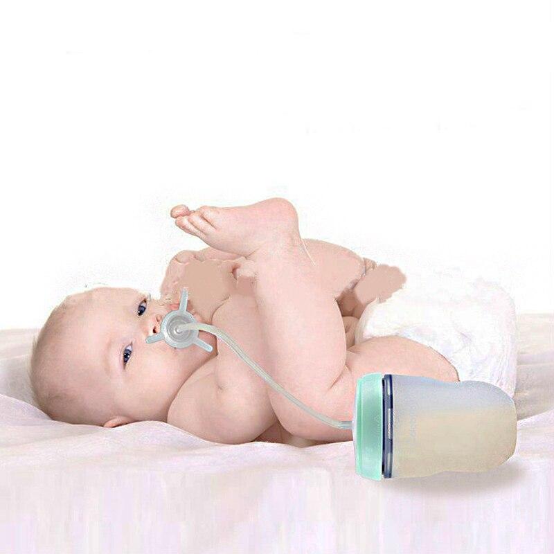 Biberón de silicona de 250ml para niños, biberón para entrenamiento de niños, bonito biberón para beber agua, biberón con manos libres