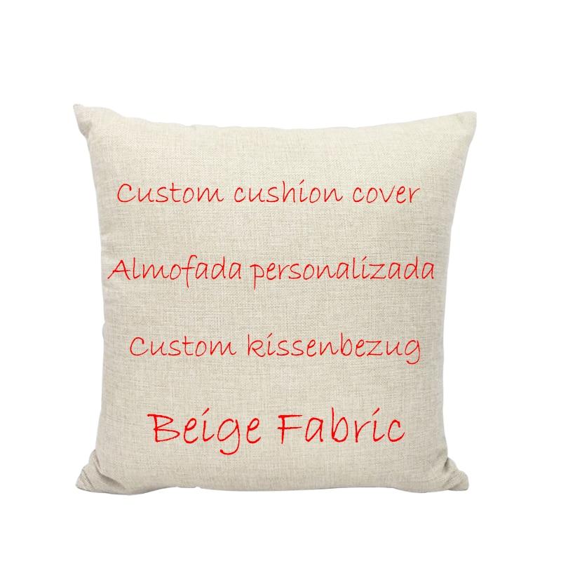 Funda de cojín personalizada DIY creativa, Material de lino, funda de almohada personalizada de 1 lado para impresión personalizada, funda de almohada decorativa para cojín