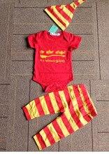 Pasgeboren Baby Jongen Meisje Kleding Set 2018 Zomer Snuggle Tops bodysuit + Broek + Hoed Baby Waggel kids jongens outfit set