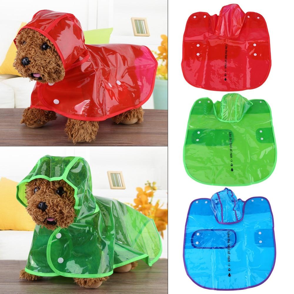 Pet Dog Raincoat Waterproof Transparent Jacket Dog Regenjas Hood Poncho Outdoor Rain Coat Pets Clothing capa de chuva