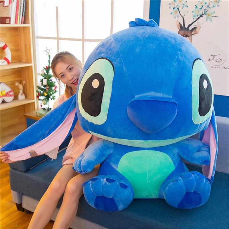 35-80 см гигантская мультяшная стежка Лило Ститч плюшевая игрушка Большой размер Кукла Детская мягкая игрушка для ребенка день рождения Рожд...