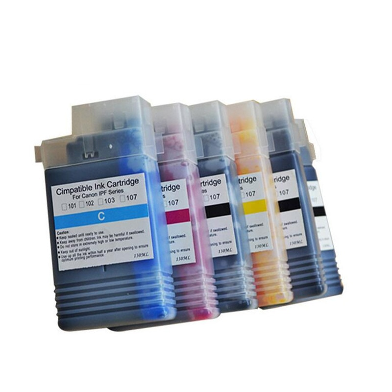 PFI102 la tinta 5 color compatible con formato ancho cartucho para Canon iPF/500/510/600/605/610/700/710/720