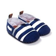 Nouveau-né bébé garçons loisirs beaux enfants premiers marcheurs chaussures infantile bébé berceau fond mou rayé mocassins chaussures chaudes