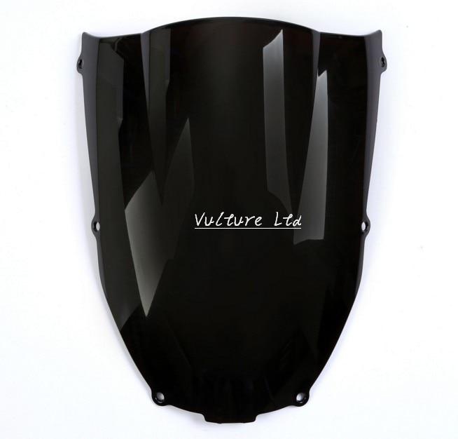 Parabrisas de carenado ondulado negro ahumado para Kawasaki Ninja ZX6R 2000-2002 ZZR 600 05-09