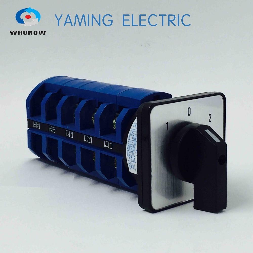 الصانع محرك كهربائي عكس التبديل الروتاري محدد التبديل bremas التبديل lw26 63A 5 القطب التبديل