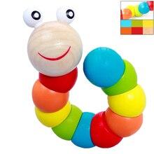 Детские развивающие деревянные игрушки, цветные пальцы, гибкие обучающие игрушки для детей, вращающиеся игрушки для детей
