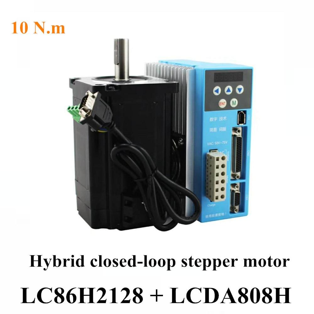 High-Quality Torque 10 N.m 86 AC Servo Motor LC86H2128 Mixed Closed Loop Encoder LCDA808H Digital Drive 152mm 2 Phase