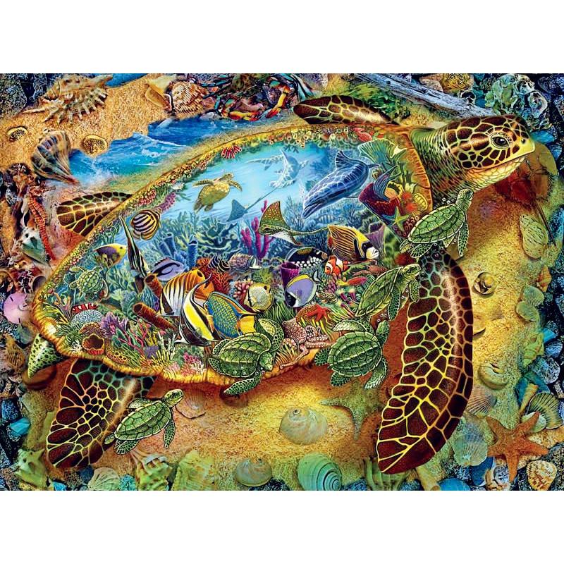 NEW FULL Square DIY 5D Diamond Mosaic Sea turtle various sea fish scenery diamond painting Cross Stitch Kits Diamond Embroider