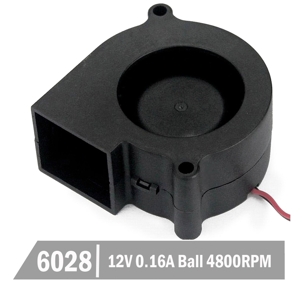 2 pièces Gdstime 12 V roulement à billes 60mm 6 cm 6028 ventilateur ventilateur PC refroidisseur ventilateur ventilateur de refroidissement 60x28mm DC sans brosse Turbo ventilateur