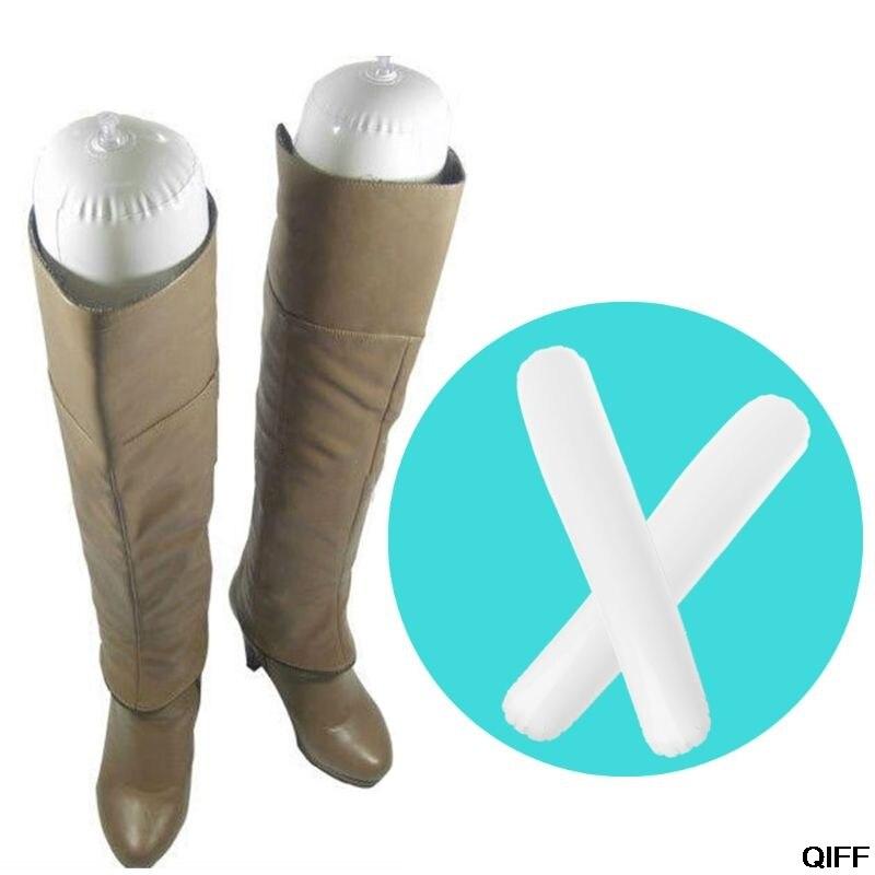 2pcs מגפי Stand מחזיק 50cm גבוה נעליים מתלה תמיכה מתנפח PVC ארוך נשים נעל אלונקה ארגונית אחסון