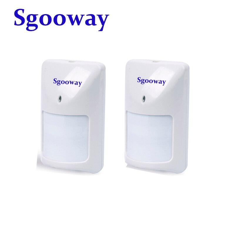 Sensor PIR con cable Sgooway para sistema de alarma de hogar con Sensor de movimiento infrarrojo con cable funciona con Panel de alarma
