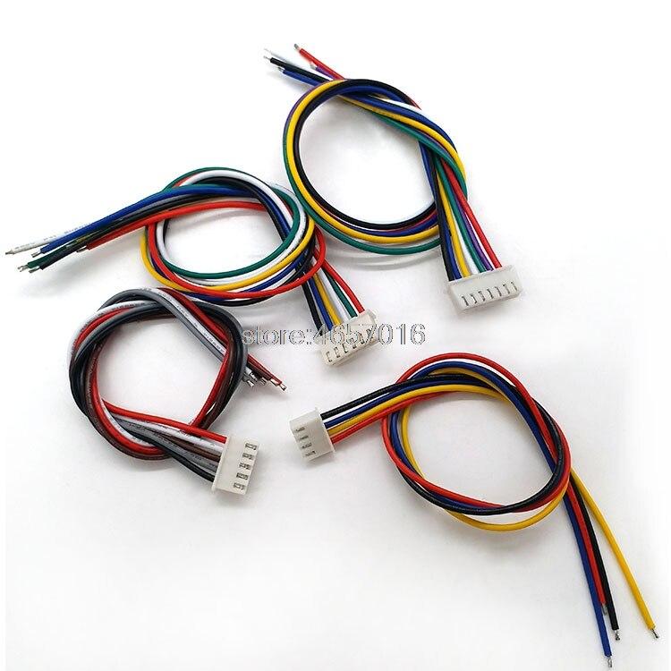 Cable de 10cm de largo, conector XH 2,54 JST, 26AWG, 2/3/4/5/6/7/8/9/10/12P