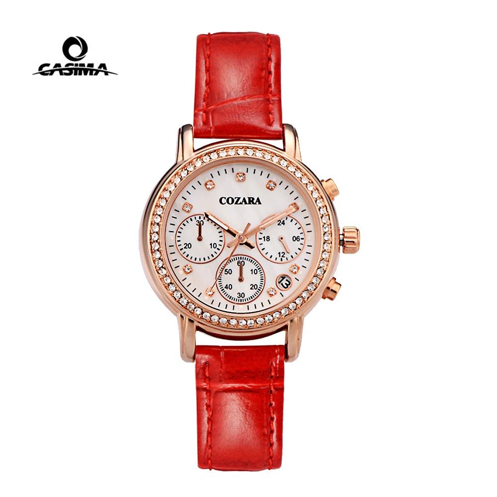 CASIMA Brand Ladies Watches Women Luxury Waterproof Fashion Luminous Rose Gold Chronograph Quartz Wristwatches Relogio Feminino enlarge