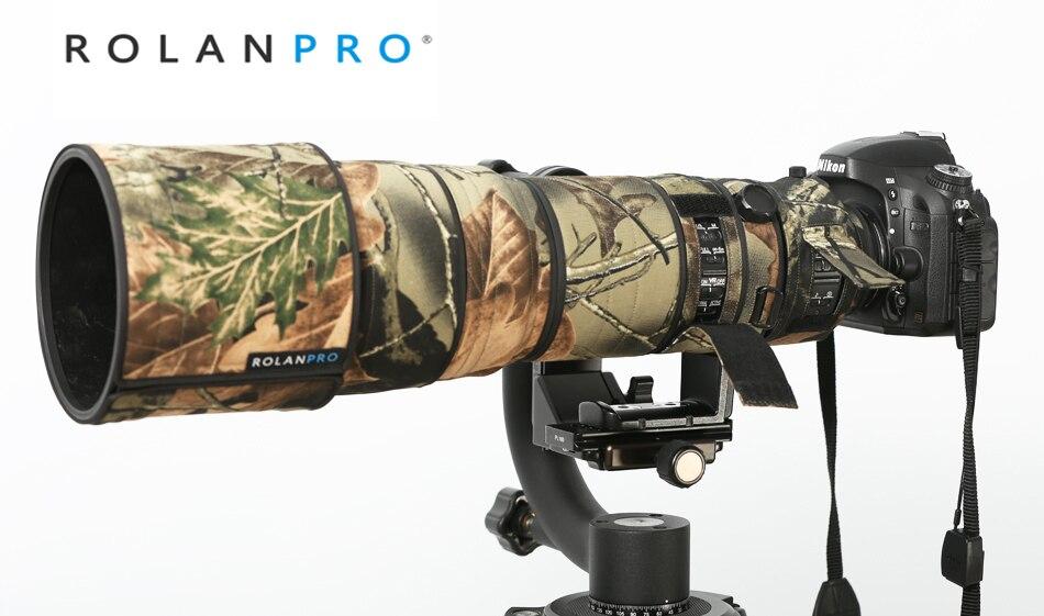 Rolanpro 렌즈 천 nikkor nikon AF-S vr 200-400mm f/4g ed vr 렌즈 보호 슬리브 건 케이스 용 위장 코트 레인 커버
