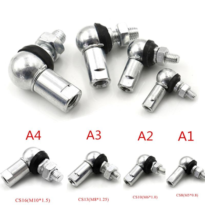 1PC Hohe Qualität Ball Kopf Kugelgelenk Gelenkkopf M5 M6 M8 M10 Rechten Winkel CS8/CS10/ CS13/CS16 Anti-staub Ring