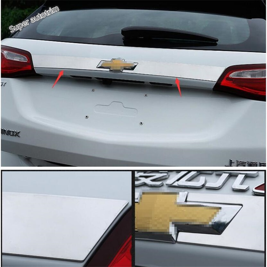 Lapetus parte trasera del maletero puerta trasera decoración trasera cubierta de tira accesorios de ajuste Exterior para Chevrolet equinocx 2017-2020
