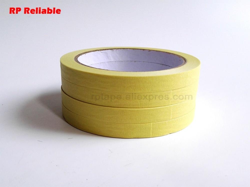 Cinta adhesiva única de 3mm ~ 200mm, papel crepé, resistencia a temperatura media alrededor de 110C, para máscara de pintura automática de coche, puede escribir