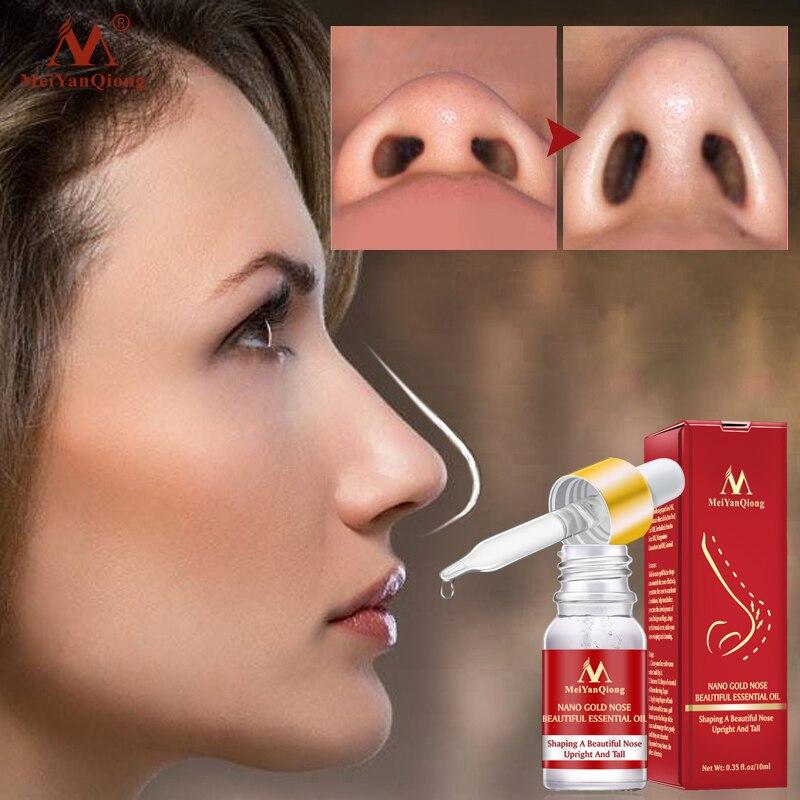 MeiYanQiong Lifting Nose Up esencia aceite tensado belleza cuidado de la nariz masaje reducir herramienta de belleza de nariz delgada estrecha