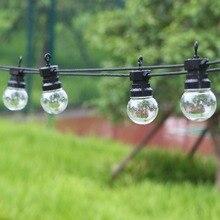 13m 20 ampul led festoon açık dize işık peri su geçirmez Led küre ampul düğün parti dekor dize lambası arka bahçe veranda