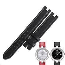 WENTULA bracelets de montre pour Tissot PINKY T084.210 bracelet en cuir de veau bracelet en cuir de vache bracelet de montre