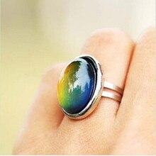 2016 bijoux en cristal changeant de couleur humeur anneau température émotion sentiment anneaux humeur taille réglable cadeaux événement fête fournitures