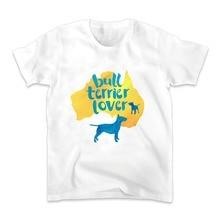 Bull Terrier köpek lover Gömlek ERKEKLER jollypeach yeni beyaz Rahat Artı Boyutu t shirt homme Avustralya bulldog besleyici t-shirt