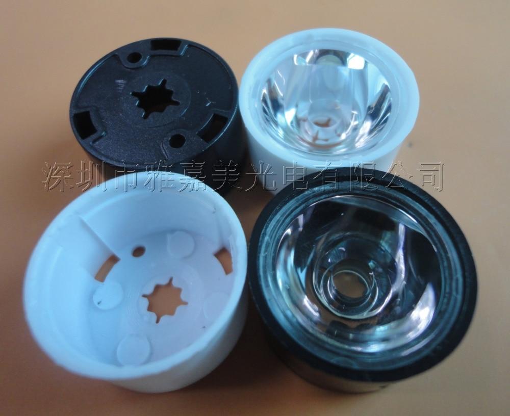 "Lentes LED cree diametro 21,5mm superficie lisa (5 10 15 20 30 45 60 85 grados) Lente XPE/XPG, soporte de correa de lente ""3535"""