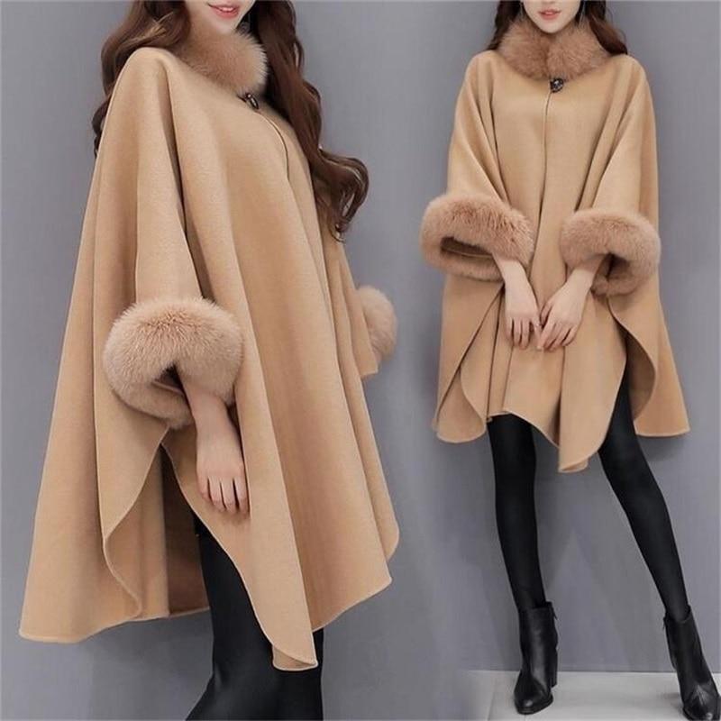 Nieuwe Winter Womens Mantel Grote Bontkraag Plus Size Jas Lange Winterjassen Parka Jassen Bovenkleding